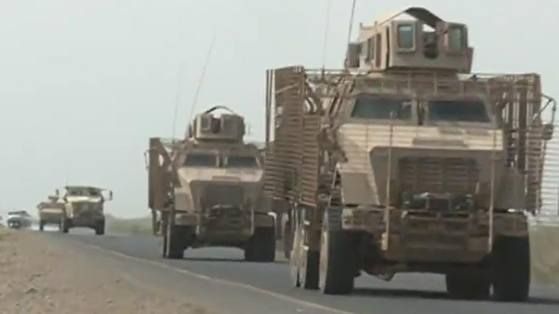 لقطات لتعزيزات عسكرية يدفع بها التحالف العربي الي جبهة الساحل الغربي في الحديدة