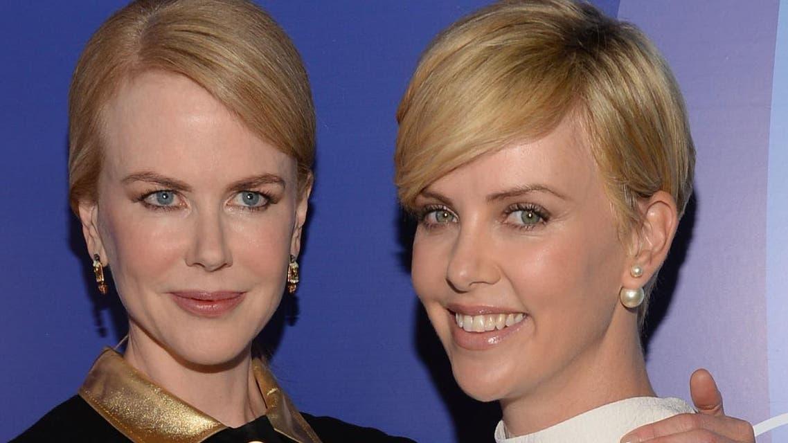 Nicole Kidman and Charlize Theron (AFP)