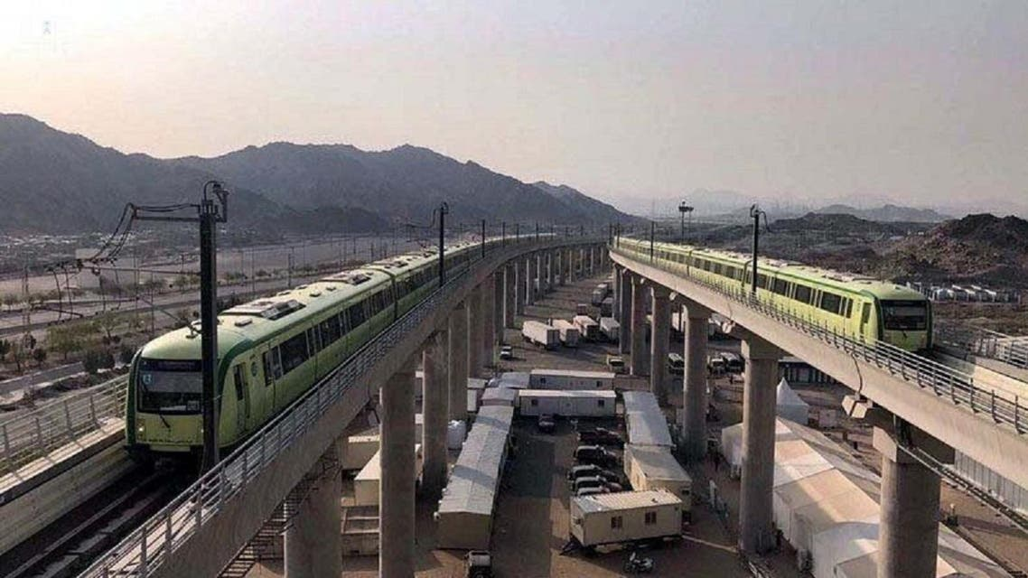The train to the holy sites will take pilgrims from Mina on the eighth day of Dhu al-Hijjah to Arafat and back. (SPA)