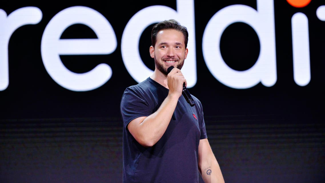 CEO of Reddit Alexis Ohanian at a summit in Los Angeles on July 31, 2017. (AFP)