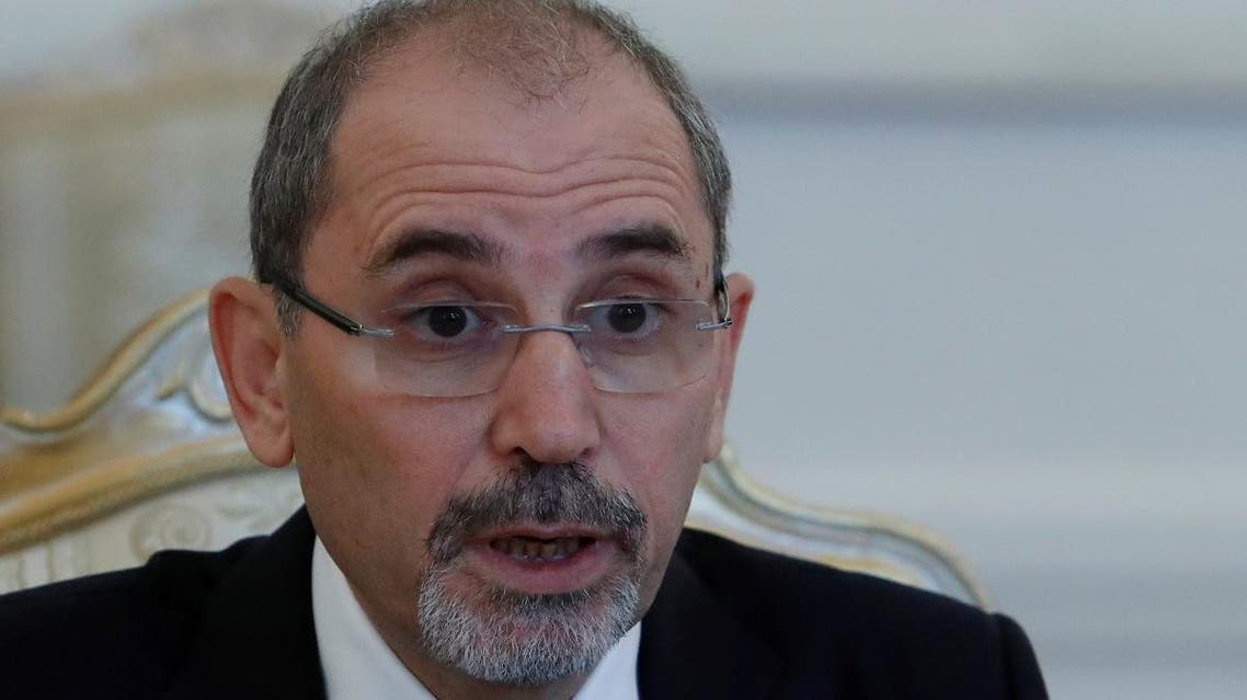 Jordanian Foreign Minister Ayman Safadi at a meeting in Moscow on July 4, 2018. (Reuters)