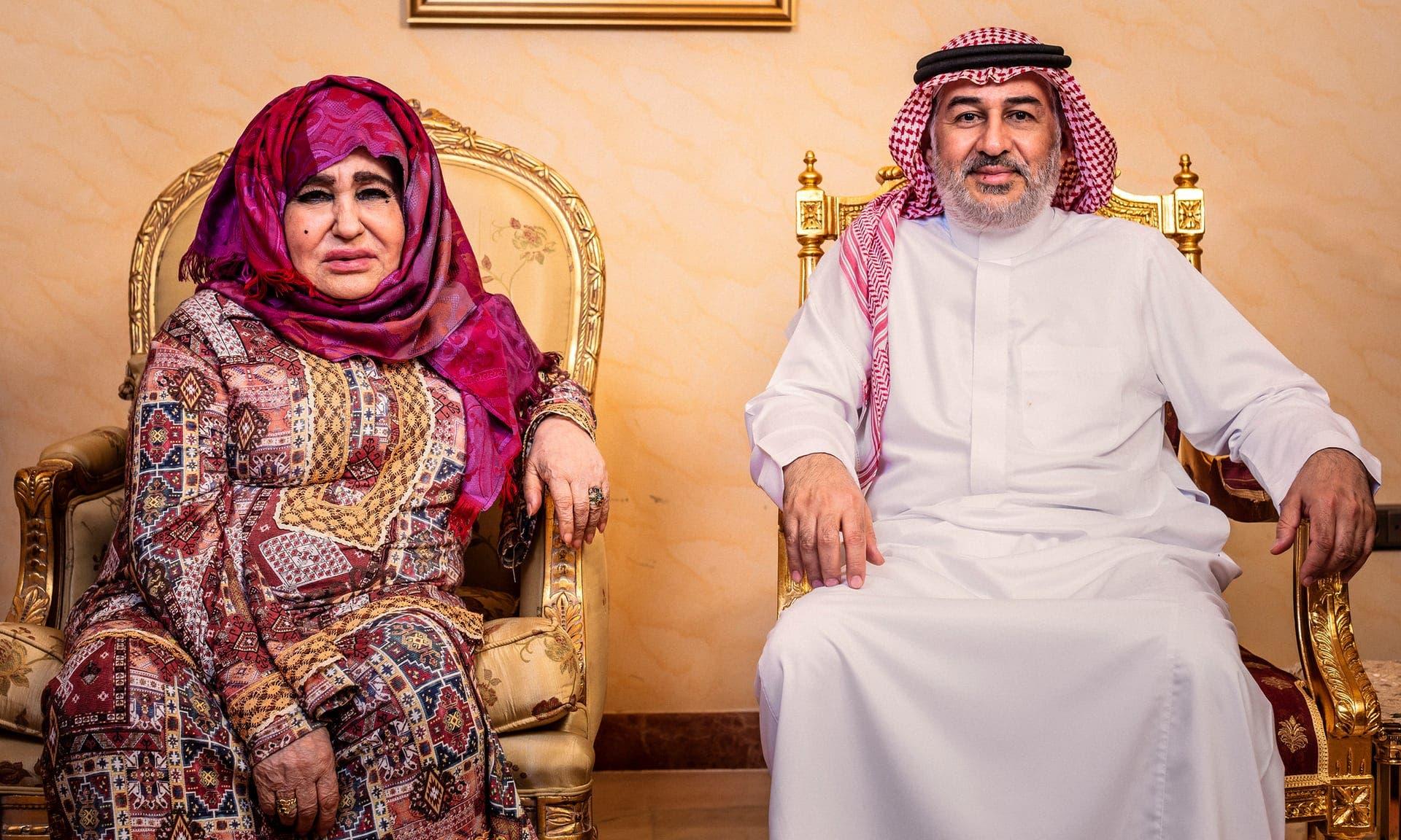 والدة أسامة بن لادن وابنها أحمد