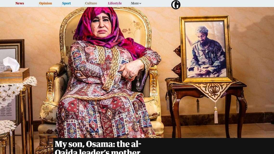 Alia Ghanem speaks to The Guardian at her home in Jeddah, Saudi Arabia. (Screenshot from the Guardian, Photo courtesy: David Levene for the Guardian)