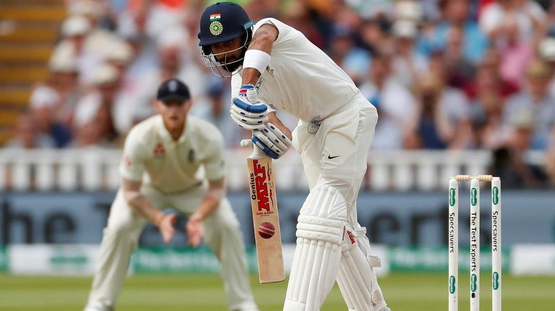 India's Virat Kohli in action during the second innings of the first Test at Edgbaston, Birmingham, on August 3, 2018. (Reuters)