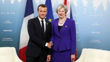 بريكست في قلب لقاء بين ماكرون وماي اليوم في فرنسا