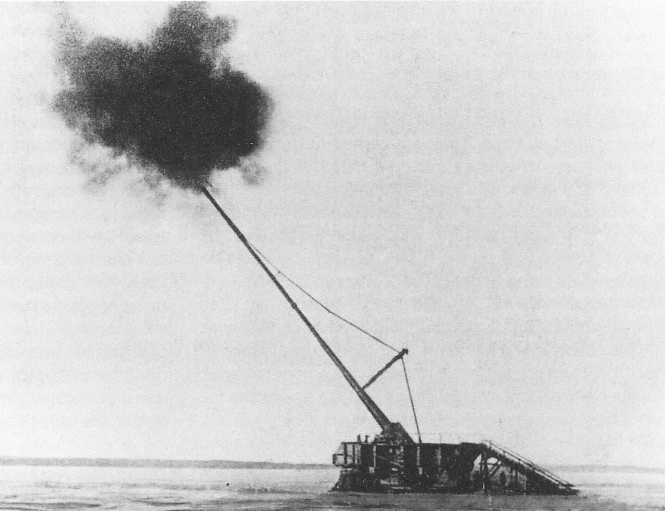 صورة لمدفع باريس خلال الحرب العالمية الأولى