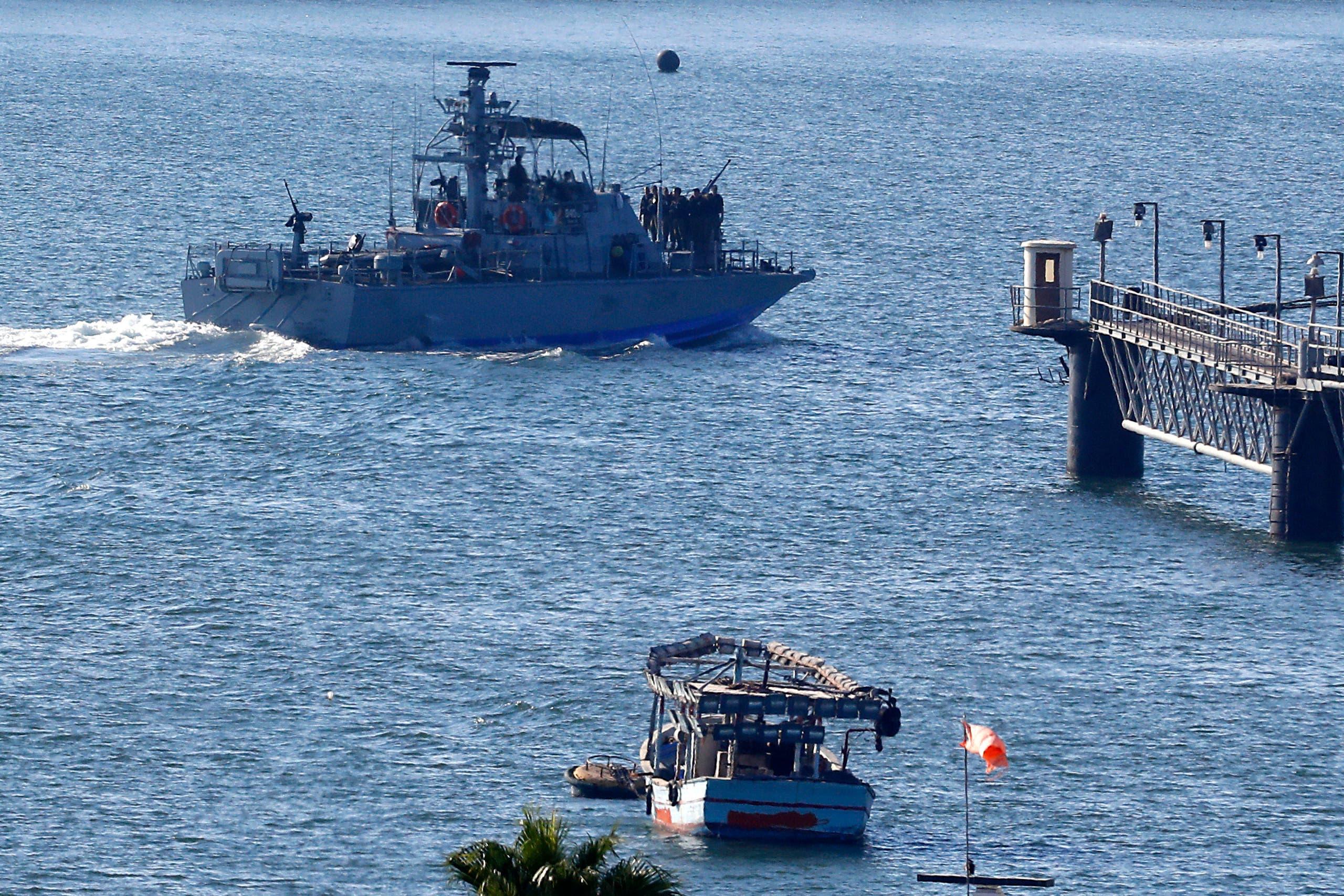 البحرية الإسرائيلية في ميناء أسدود تعترض سفينة ترفع علم النروج يوم 29 يوليو