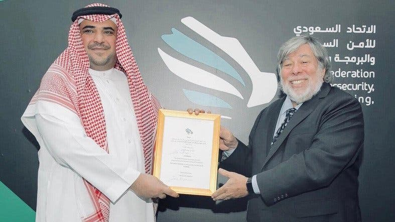 "The Saudi Federation for Cybersecurity, Programming and Drones named Steve Wozniak, the co-founder of Apple as Ambassador of ""Saudi TechHub"". (Supplied)"
