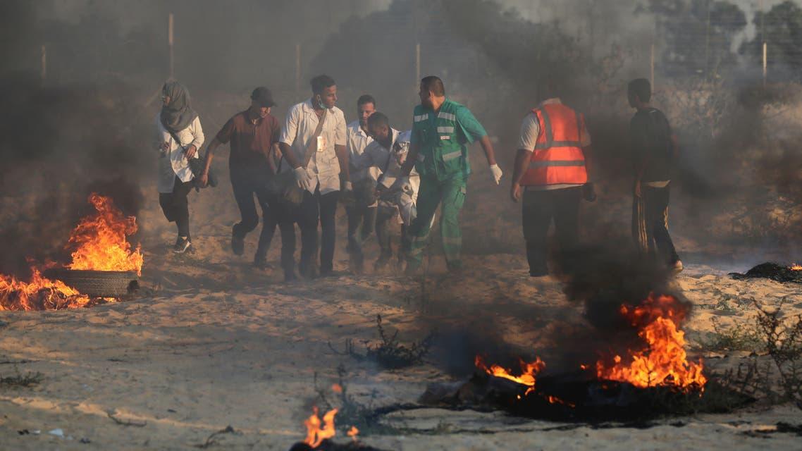 من الاحتجاجات جنوب قطاع غزة