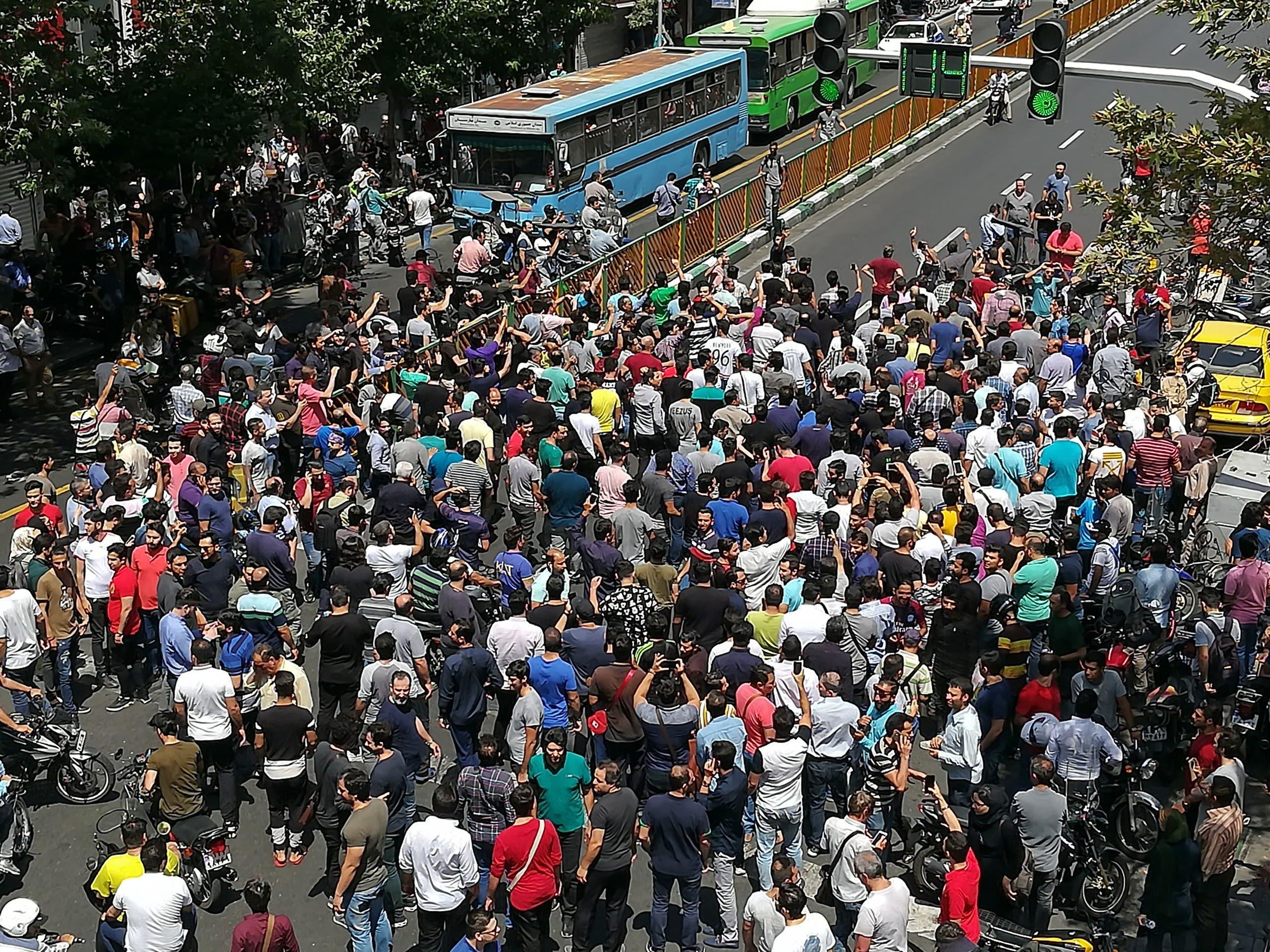 تظاهرات في طهران(أرشيفية)