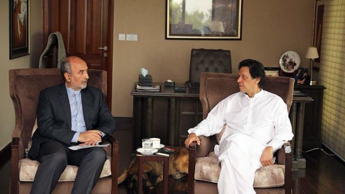 Imran Khan With Iranian Ambassador
