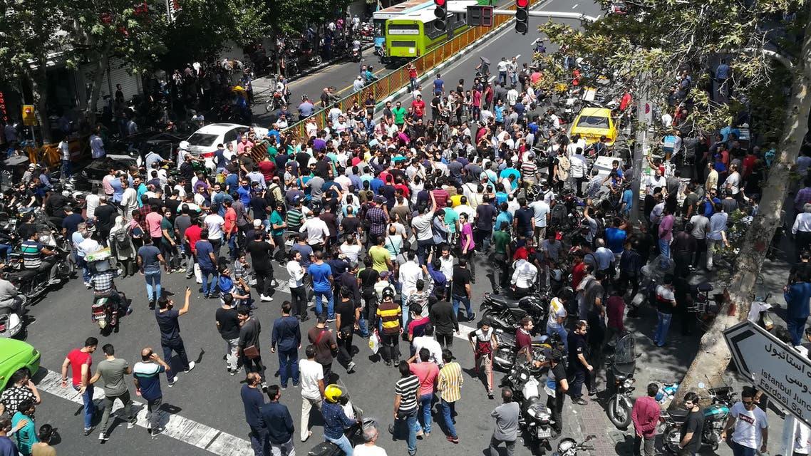 من التظاهرات في طهران يوم 25 يونيو