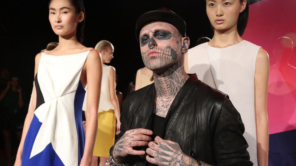 "Model Rick Genest, also known as ""Zombie Boy"" due to his distinctive tattoos, has died at the age of 32. (AFP)"