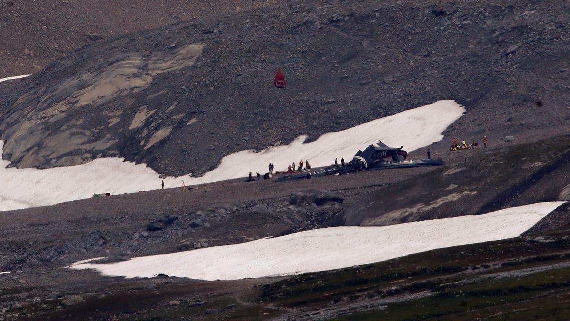 موقع تحطم طائرة في سويسرا