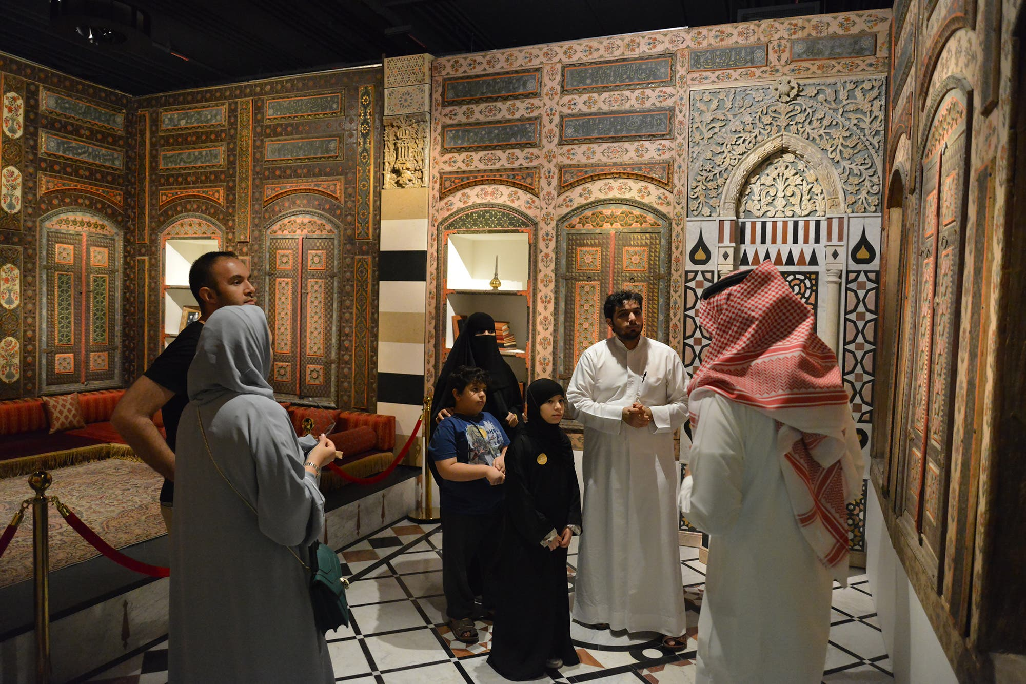 damascene room at saudi museum. (Supplied)