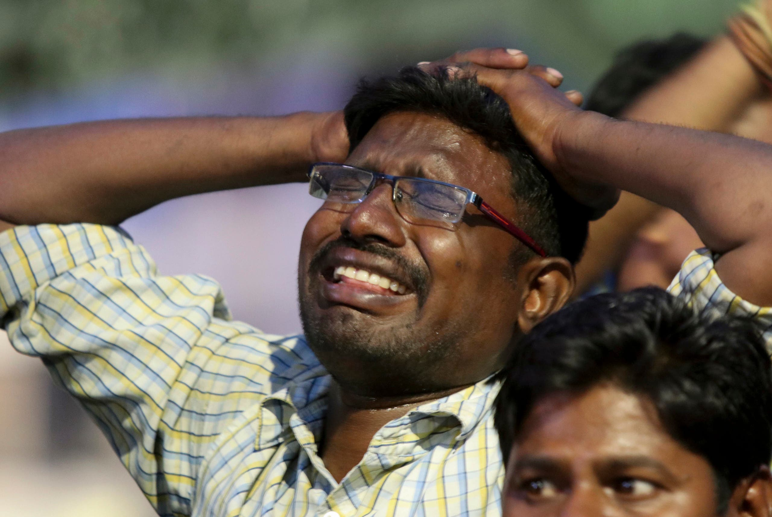 Thousands mourned in southern India on Tuesday after the death of revered 94-year-old political leader Muthuvel Karunanidhi. (AP)