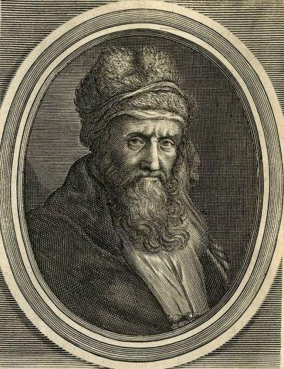 صورة للكاتب والمؤرخ ديوجانس اللايرتي