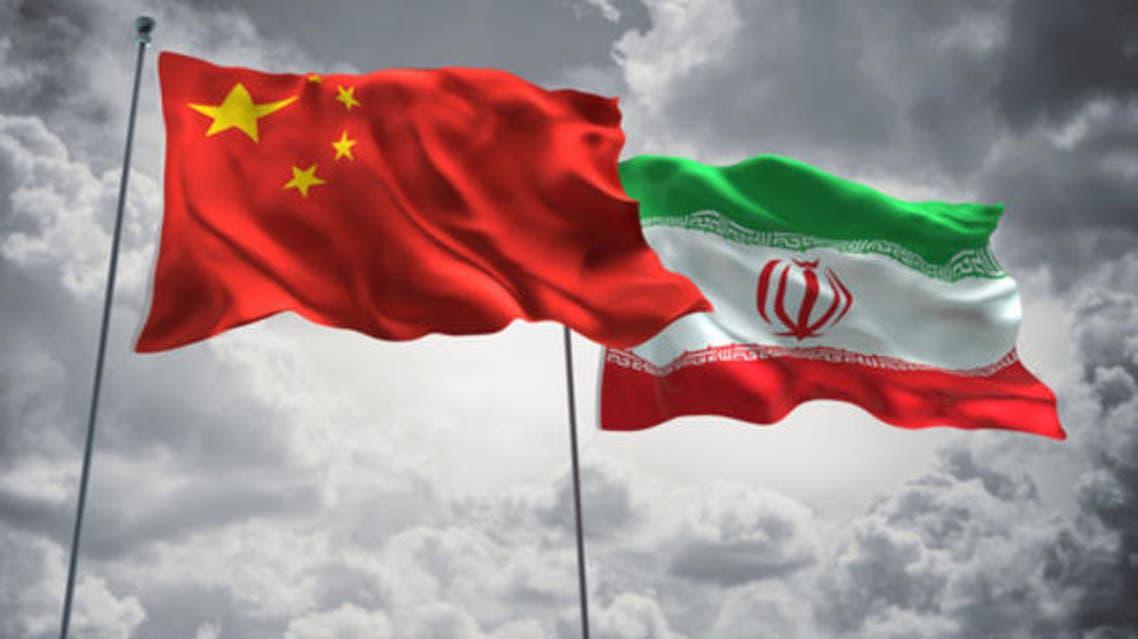 أعلام الصين و إيران