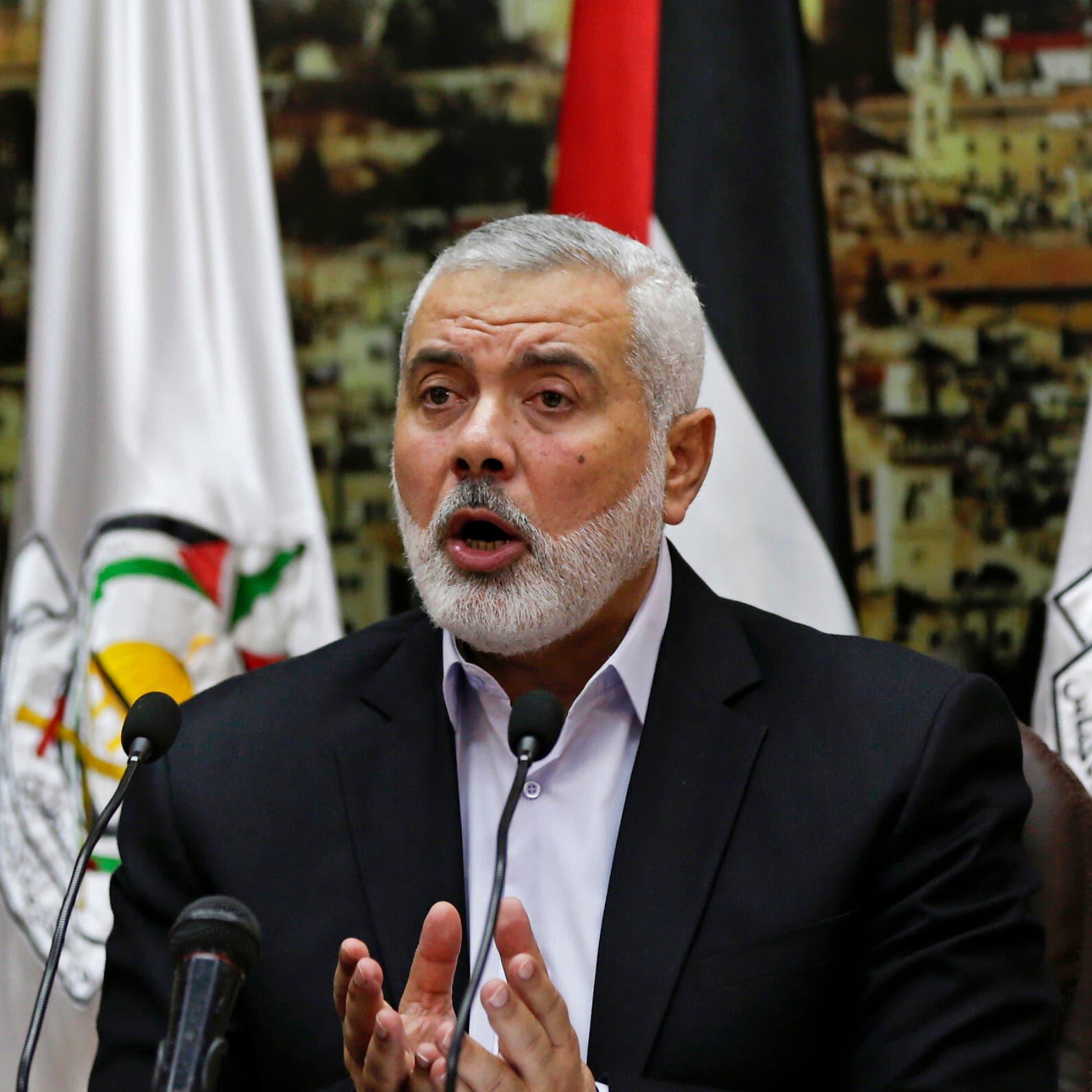 هنية يشكر إيران على تقديم السلاح إلى حماس في غزة
