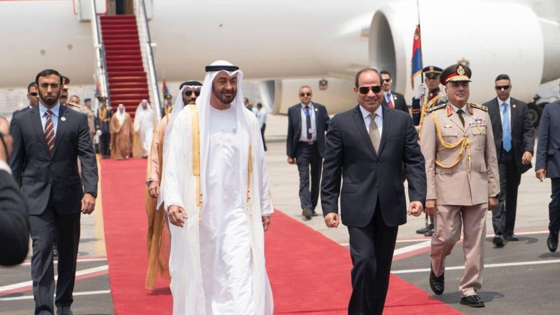 mohammed bin zayed abdul fattah al sisi. (Twitter)