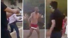 استياء في المغرب.. شاب يواجه الشرطة بالسيوف