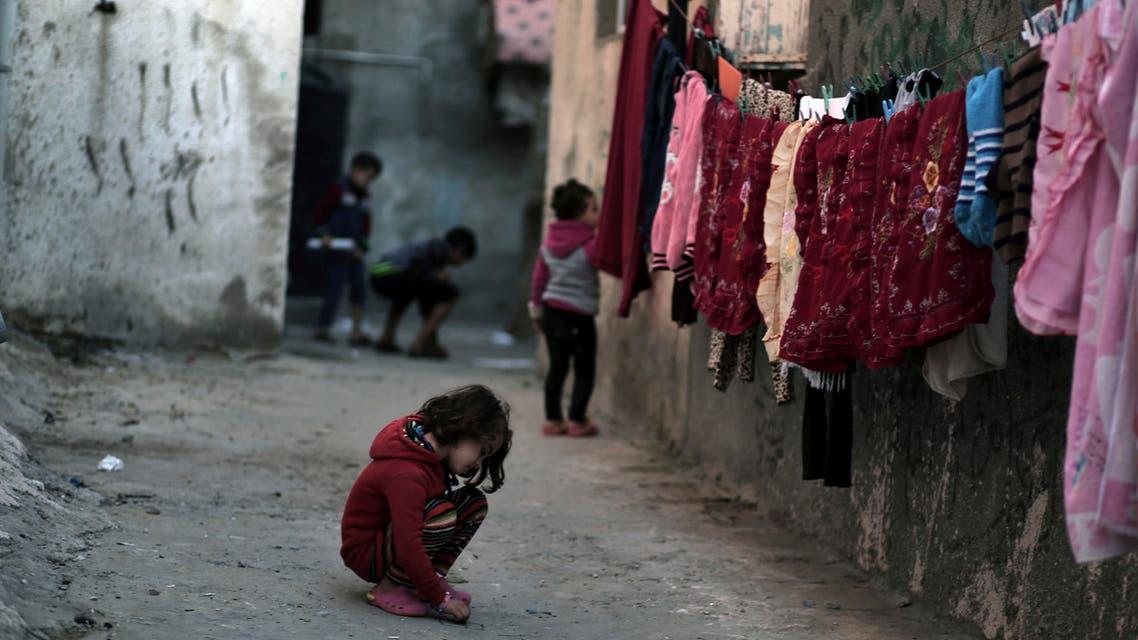 Gaza children. (AP)