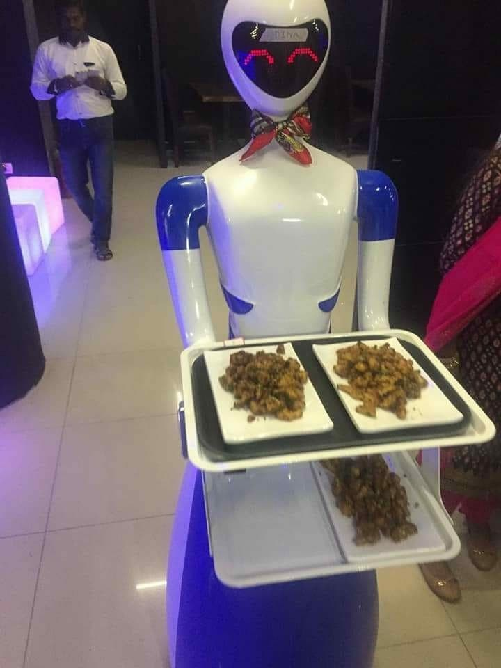 The robot restaurants in Chennai and Coimbatore have become popular hangout places. (Supplied)