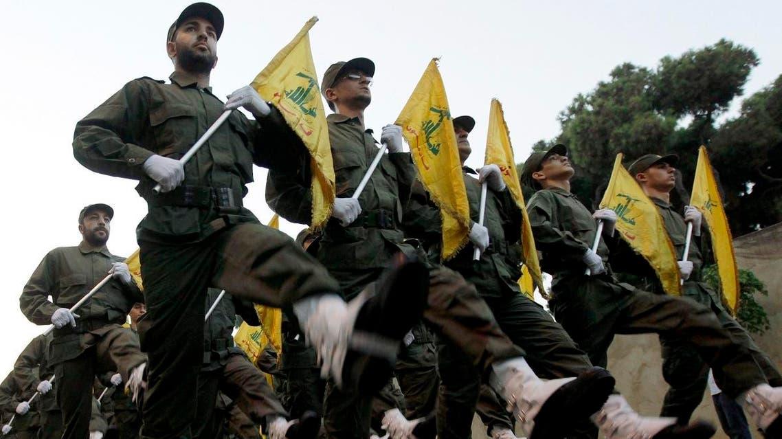 Hezbollah military parade 2 (AP)