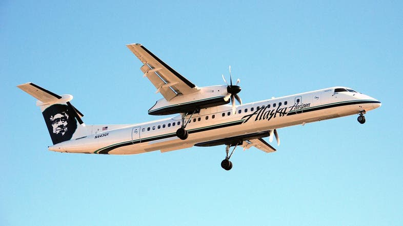 innovative design 4c74b 6839b Video showed the Horizon Air Q400 doing large loops and other dangerous  maneuvers as the sun set. (File photo  Supplied)