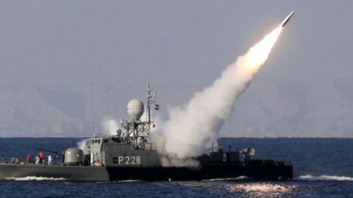 تدريب صاروخي إيراني في مضيق هرمز