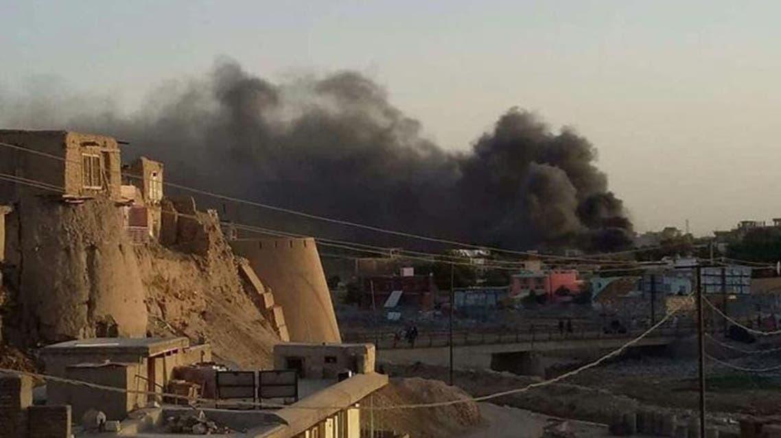 طالبان ساختمان تلویزیون غزنویان شهر غزنی افغانستان را آتش زدند
