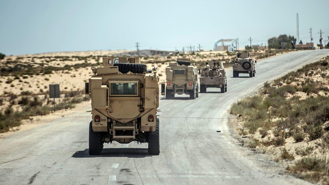 الجيش المصري شمال سيناء