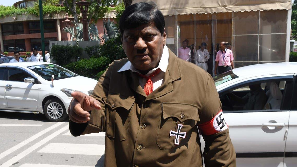 Indian MP dressed as Hitler AFP