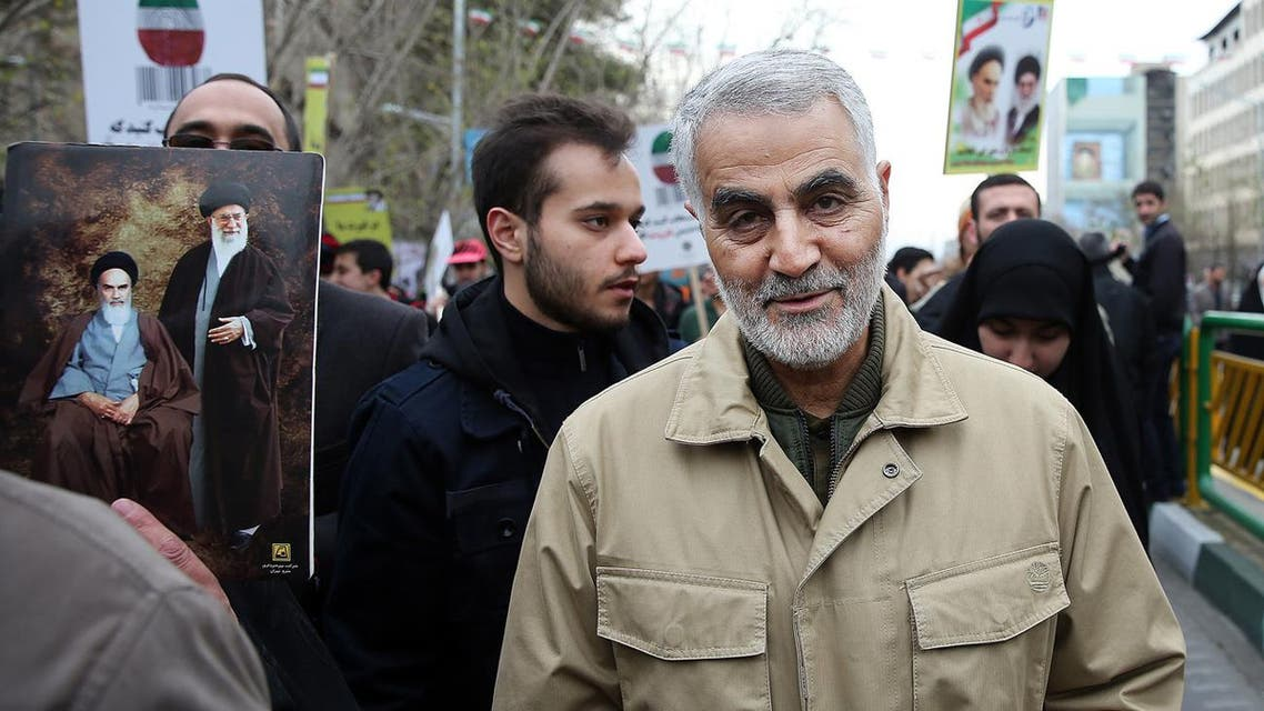 Commander of Iran's Quds Force, Qassem Soleimani attends an annual rally commemorating the anniversary of the 1979 Islamic revolution, in Tehran, Iran. (File photo: AP)