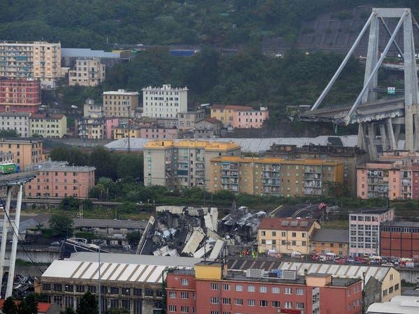رئيس وزراء إيطاليا يعلن الطوارئ بعد انهيار جسر جنوة
