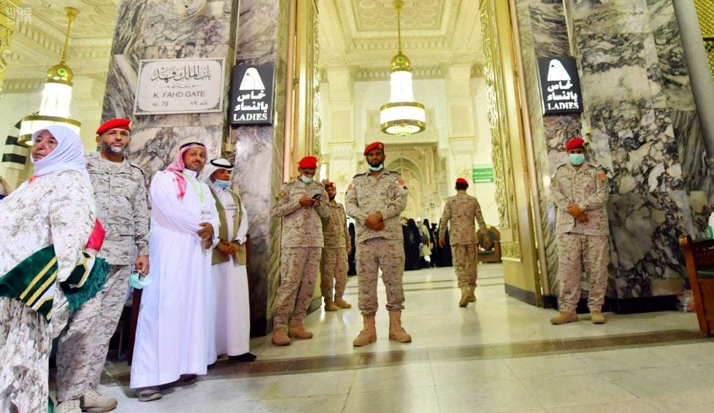 Some of the humanitarian efforts by the Saudi Special Forces deployed specially for the security of the Holy Mosque. (SPA)