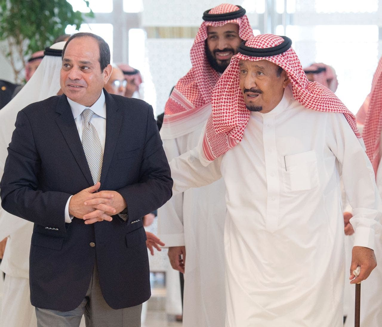 Saudi king salman and sisi. (SPA)gf