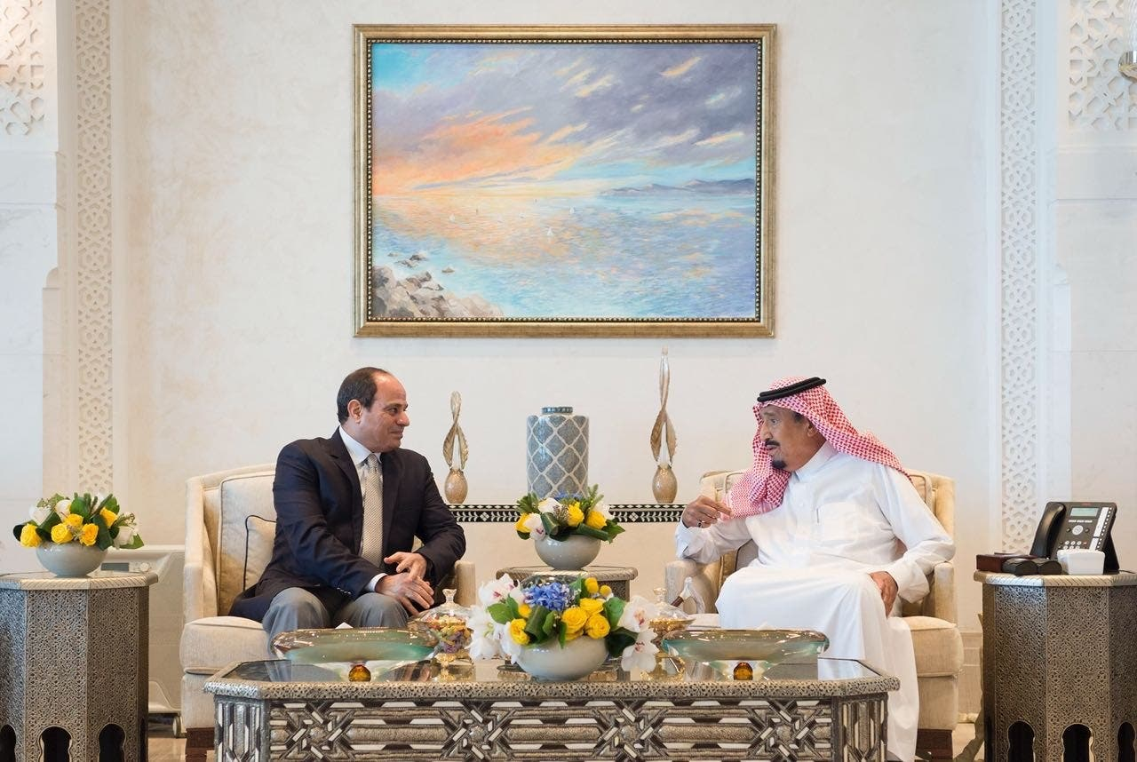 Saudi king salman and sisi. (SPA)