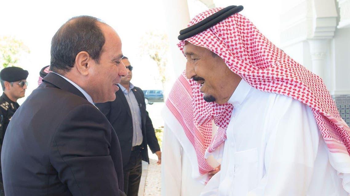 Saudi king salman and sisi. (SPA)a