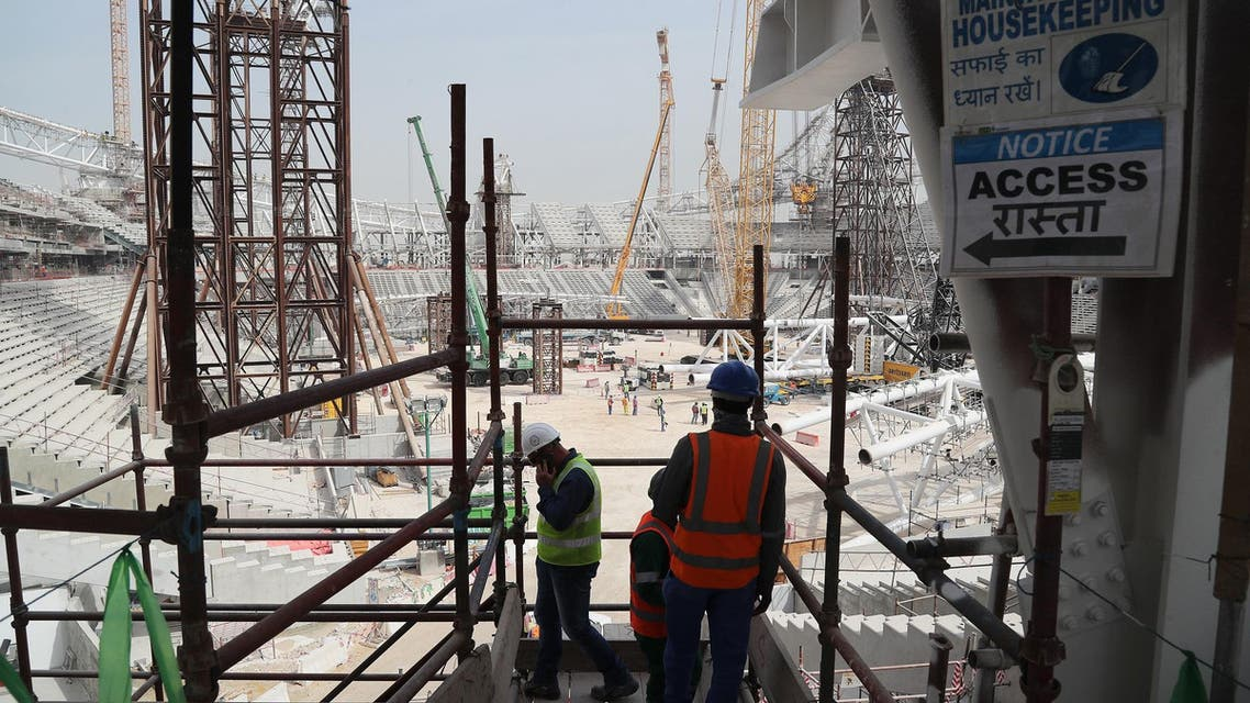 Qatar world cup 2022 workers. (AFP)