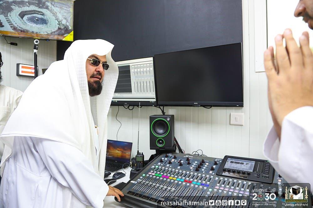 الشيخ السديس يتفقد تجهيزات يوم عرفة