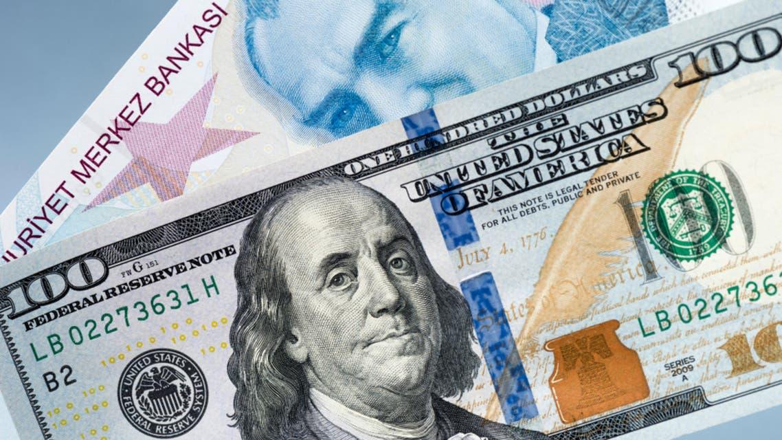 ليرة تركية دولار