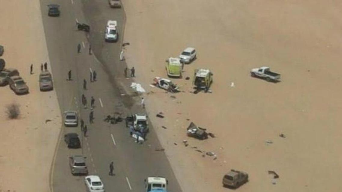 """The Omani police said: """"The accident resulted in several deaths and injuries of all Saudi nationals."""""""