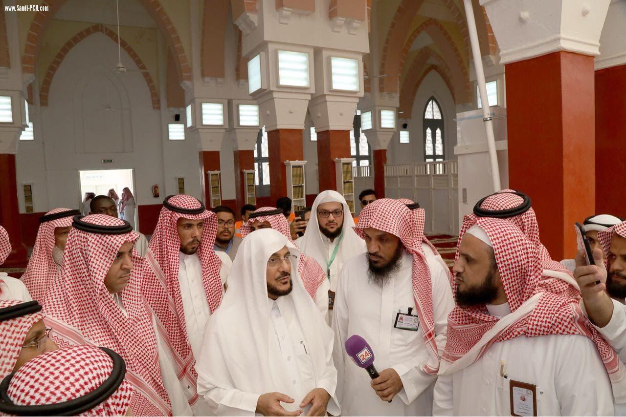 آل الشيخ أثناء حديثه للإعلام