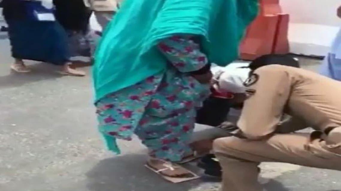 saudi officer hajj shoes