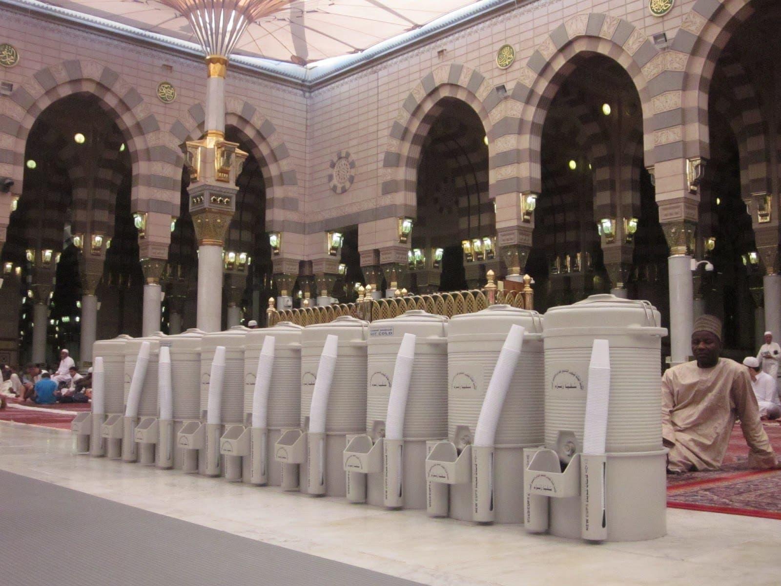 Zamzam water hajj. (Supplied)