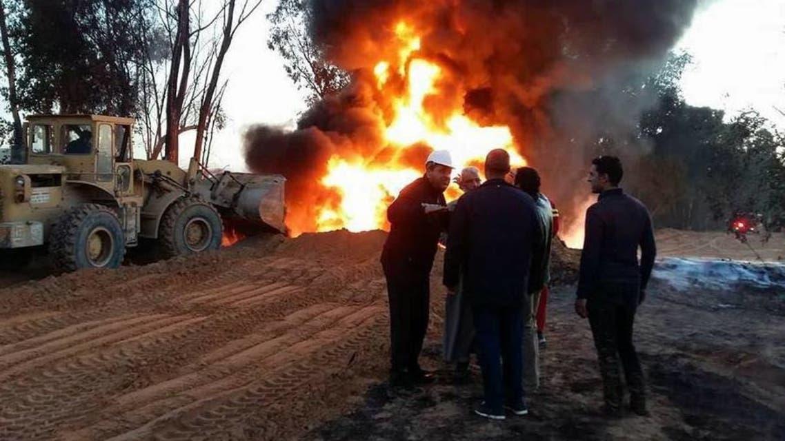 انفجار خط انابيب ليبيا