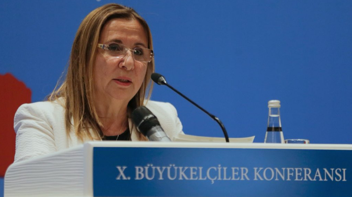 Turkey trade minister Ruhsar Pekcan. (Twitter)