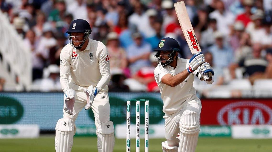India's Virat Kohli in action against England in the  Third Test  at Trent Bridge, Nottingham, Britain, on August 18, 2018. (Reuters)