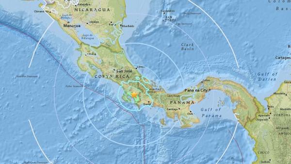 کوسٹاریکا کے جنوب میں 6.2 شدّت کا زلزلہ